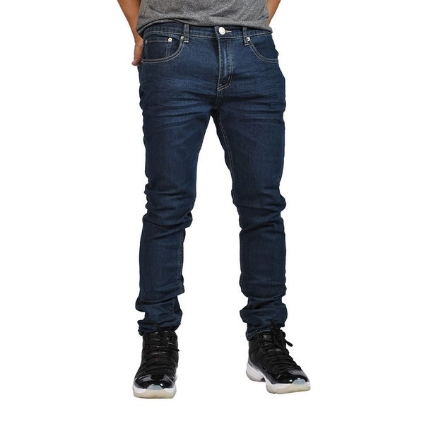 Indigo People Premium Quality Skinny Stretch Dark Indigo Bake Jeans