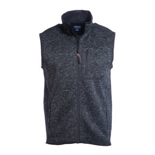 Smith's Workwear Men's Sweater Fleece Vest with Zip Pockets (Option: Black)