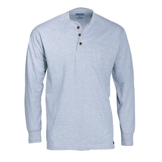 Smith's Workwear 100% Cotton Jersey Henley with Gusset Sleeves and Pocket