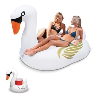 GoFloats Giant Inflatable Swan - New 2018 Design!
