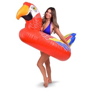 GoFloats Tropical Parrot Party Tube Inflatable Raft