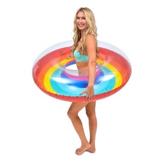 GoFloats Rainbow Party Tube Inflatable Raft