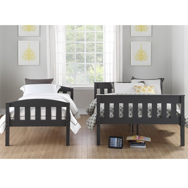Avenue Greene Airlie Grey Twin over Full Bunk Bed