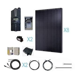 Renogy 2000 Watt 24 Volt Monocrystalline Solar Cabin Kit