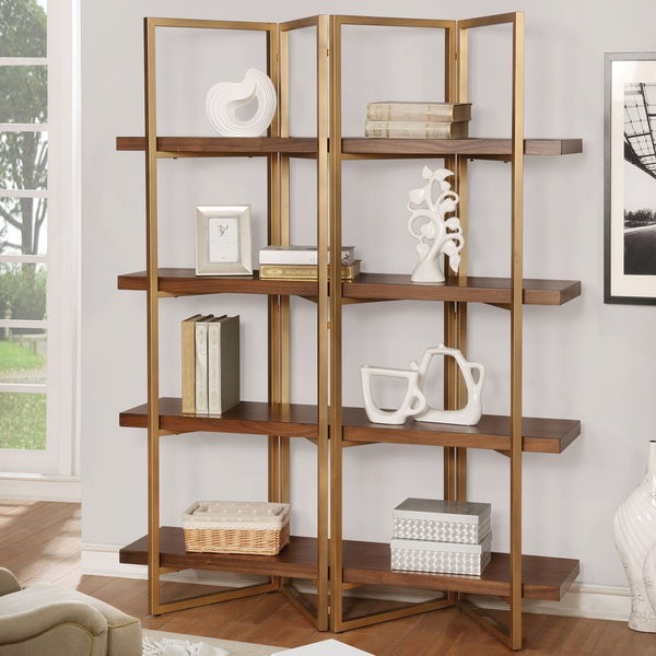 Furniture of america rayna i light walnut contemporary for Furniture of america nara contemporary 6 shelf tiered open bookcase
