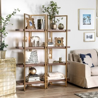 Furniture of america rayna i contemporary light walnut for Furniture of america nara contemporary 6 shelf tiered open bookcase