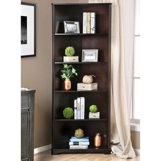 Furniture of America Copley Contemporary Corner 5-tier Bookshelf