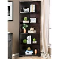 Furniture of America Copley Wood Contemporary 5-tier Corner Bookshelf