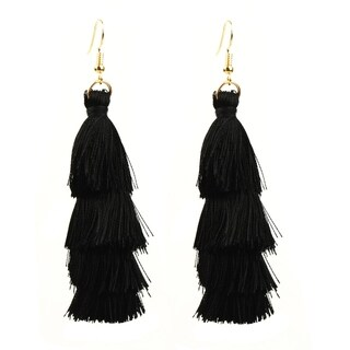 Eye Candy LA Fringe Galore Fashion Statement Earring