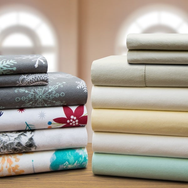 Celeste Home 190 GSM Cotton Flannel Velvet Feel Sheet Set
