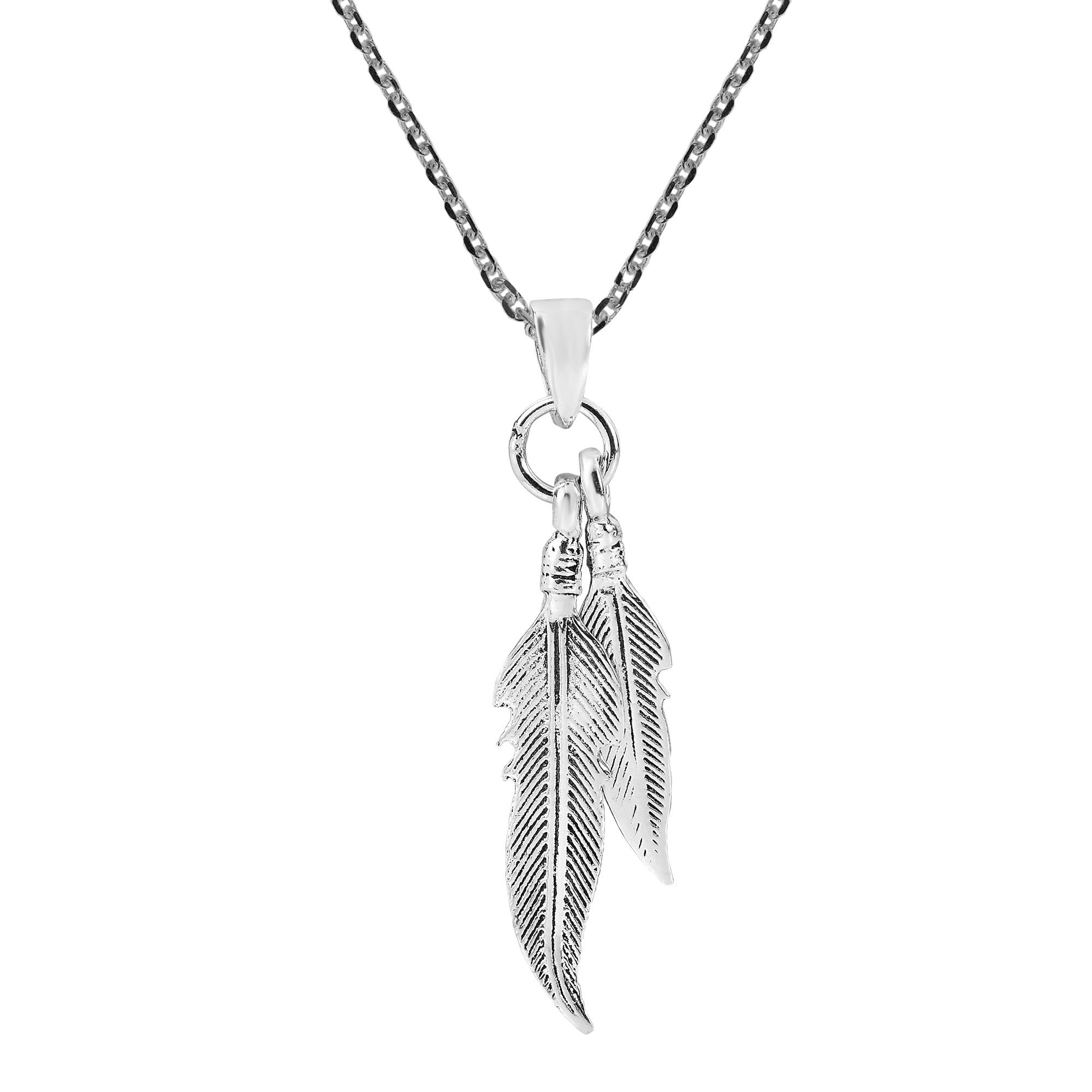 21129 feather necklace,silver feather pendant,sterling silver feather feather charm,boho necklace,everyday necklace,feather jewelry