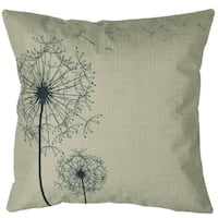 Vintage Home Decor Cotton Linen Throw Pillow Cover Dandelions Flower - Black/Beige