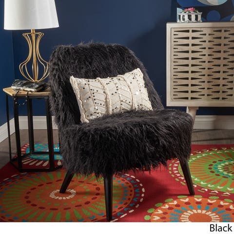 Cheryiie Faux Fur Accent Chair by Christopher Knight Home