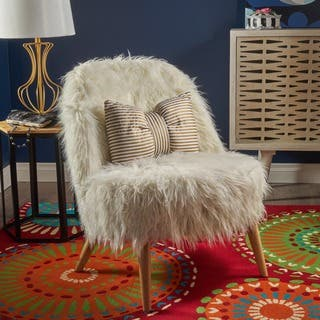 White Living Room Chairs For Less Overstock Com