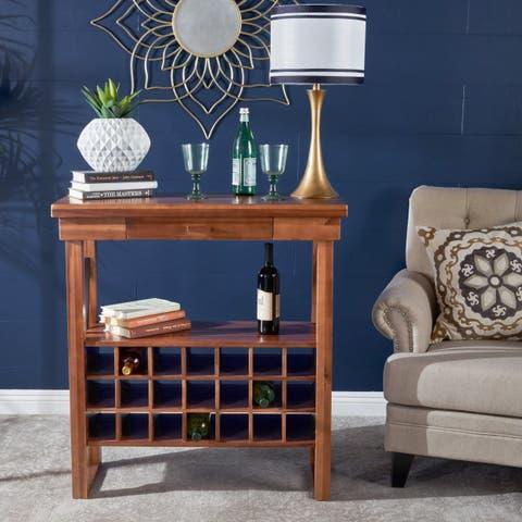 Joachim Acacia Wood Wine Rack by Christopher Knight Home