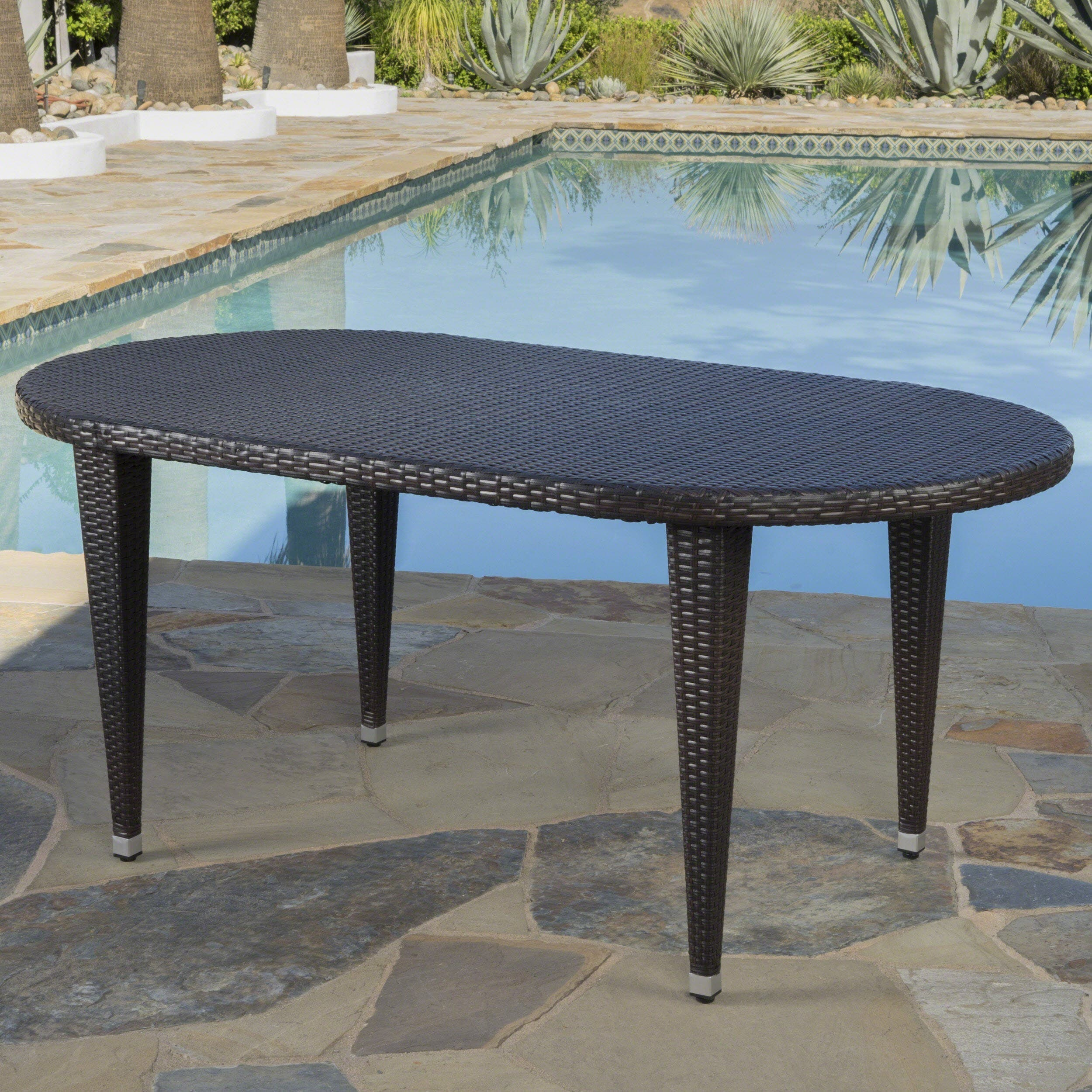 Outdoor Dining Tables For Less Overstockcom : Dominica Outdoor Oval Wicker 69 inch Wicker Dining Table by Christopher Knight Home aa316443 4857 486b 889b 6b9e7b73317f from www.overstock.com size 2500 x 2500 jpeg 593kB