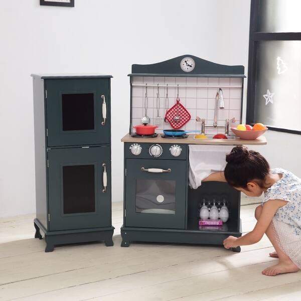 Shop Teamson Kids - Provence Big Play Kitchen - Dark Green ...