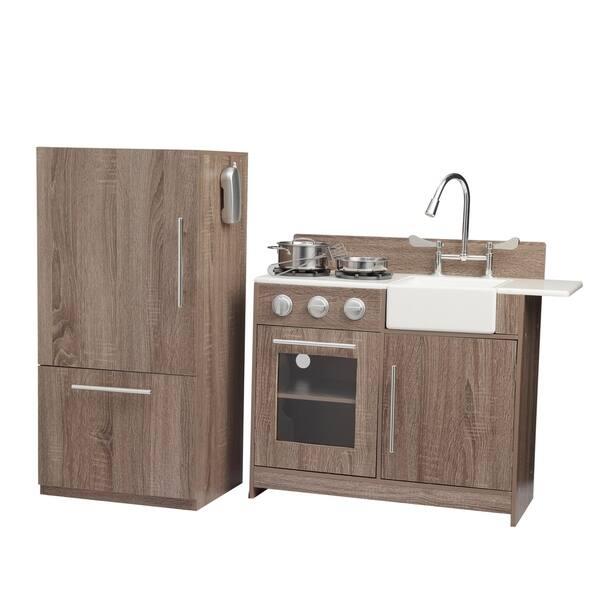 Shop Teamson Kids - Soho Big Play Kitchen - Dark Oak Grain ...
