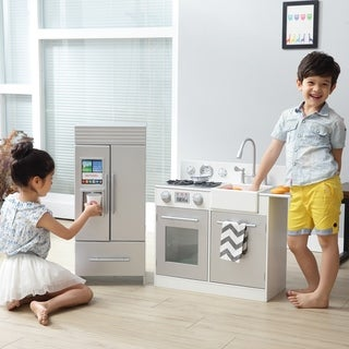 Teamson Kids - Chelsea Big Play Kitchen - Silver / White