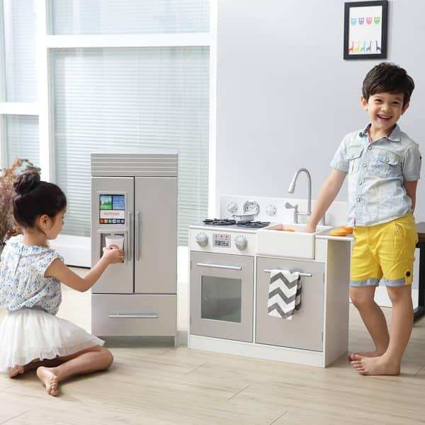 Shop Teamson Kids - Chelsea Big Play Kitchen - Silver ...