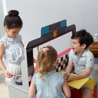 Teamson Kids - Brooklyn Diner Play Kitchen - Grey / Petrol