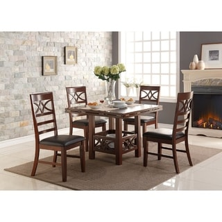 Superior Agatha Cherry Wooden Dining Chairs (Set Of 6)