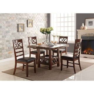 Agatha Cherry Wooden Dining Chairs (Set of 6)
