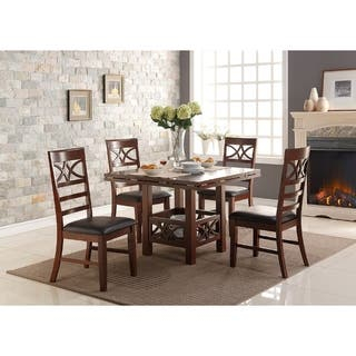 Agatha Cherry Wooden Dining Chairs  Set of 6. Set of 6 Dining Room   Kitchen Chairs For Less   Overstock com