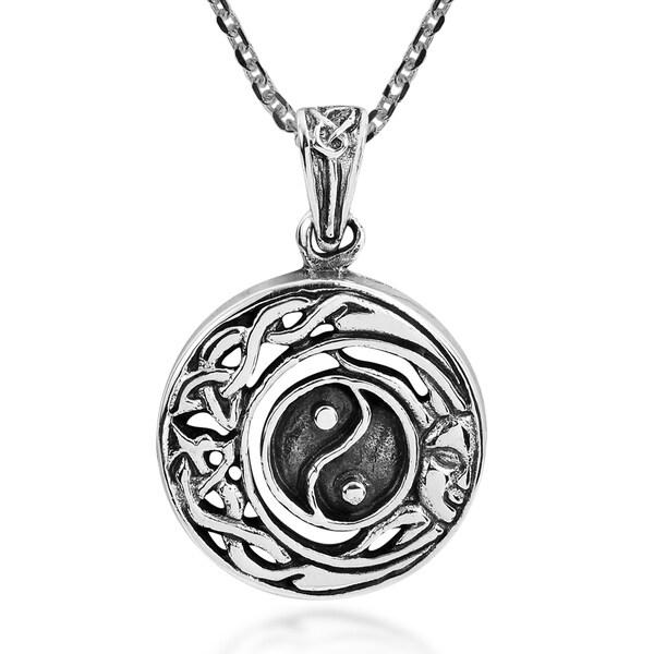 Shop Handmade Celtic Half Moon And Sun Yin Yang Sterling Silver
