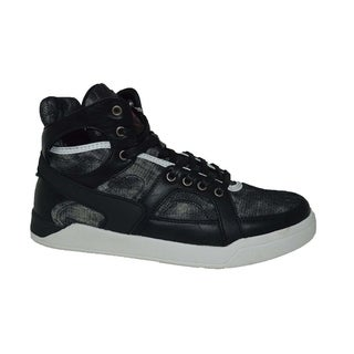 Mecca Men's Denim High Top Lace-Up Fashion Sneakers-ME-7089