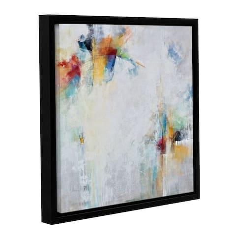 Karen Hale's Joyful, Gallery Wrapped Floater-framed Canvas