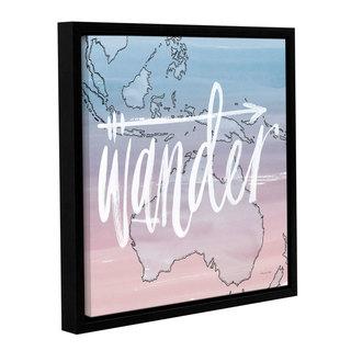 Sara Zieve Miller's World Traveler Wander, Gallery Wrapped Floater-framed Canvas