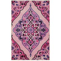 Gracewood Hollow Poliziano Pink and Multicolor Area Rug - 8' x 10'