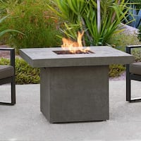 Ventura Square Gas Fire Table Glacier Gray by Real Flame