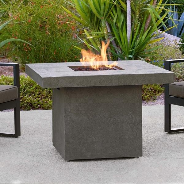 Ventura Square Gas Fire Table Glacier Gray