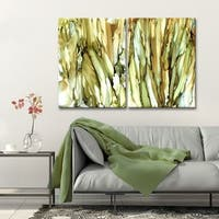 Ready2HangArt 'Puddles & Cattails' Canvas Wall Decor Set by Max+E - Brown