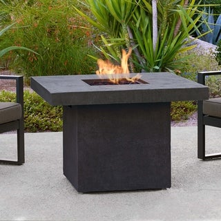 Ventura Square Gas Fire Table Kodiak Brown by Real Flame