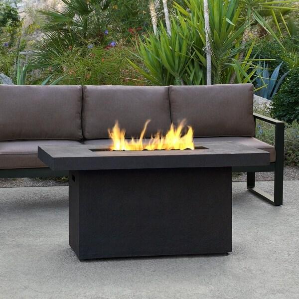 Ventura Rectangle Gas Fire Table Kodiak Brown