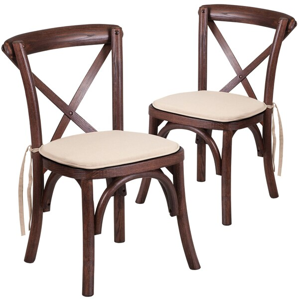 HERCULES Series Kids Cross Back Chair With Cushion