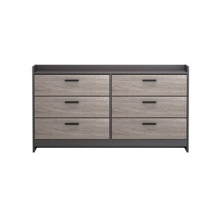 Central Park  Dresser with 6 drawers in Java Brown with Sonoma Finish