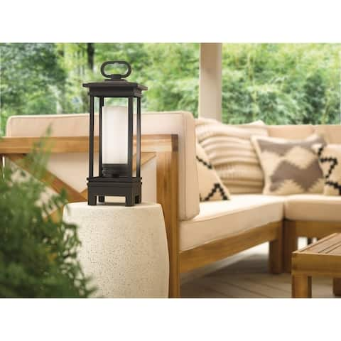 Kichler Lighting South Hope Collection 1-light Rubbed Bronze LED Bluetooth Portable Lantern