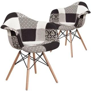 Plastic Side Chair/Wood Base