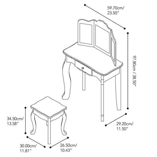 Pleasing Shop Teamson Kids Fashion Gisele Play Vanity Set Leopard Cjindustries Chair Design For Home Cjindustriesco