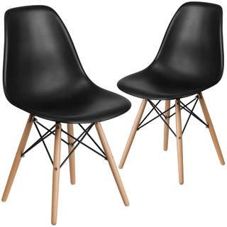 2 Pk. Elon Series Plastic Chair with Wood Base|https://ak1.ostkcdn.com/images/products/18104406/P24261124.jpg?impolicy=medium