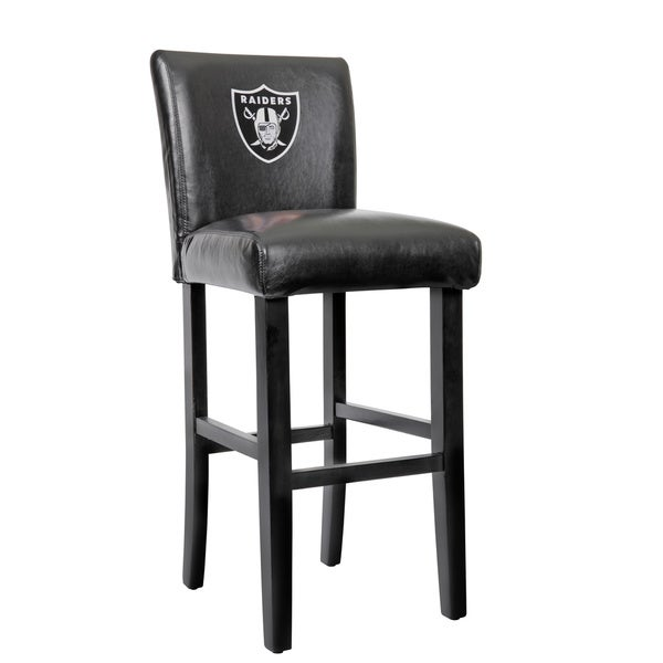 Oakland Raiders Model 30OR Officially Licensed 30 Inch Parsons Bar Stools  (sold 2/carton