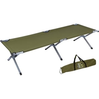 """75"""" Portable Folding Camping Bed & Cot - 260 lbs. Capacity By Trademark Innovations (Olive Green)"""