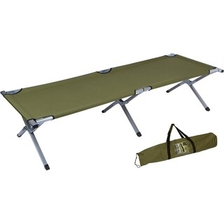 "75"" Portable Folding Camping Bed & Cot - 260 lbs. Capacity By Trademark Innovations (Olive Green)"