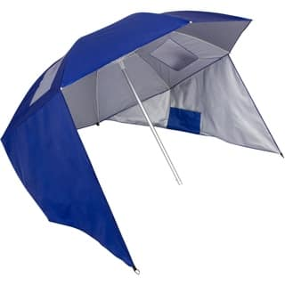 7.25' Beach Umbrella and Canopy Sun Shelter with 50+ UV Protection and Carry Bag by Trademark Innovations https://ak1.ostkcdn.com/images/products/18104676/P24261346.jpg?impolicy=medium