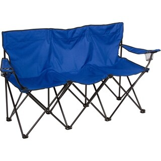Triple Style Tri Camp Chair with Steel Frame by Trademark Innovations (Blue)