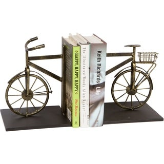 "8"" Metal Bicycle Bookends Set - Vintage Style by Trademark Innovations"